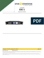 Zenitel - ESC-1 - 1023000000