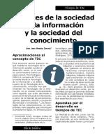 Alcances de Socied de La Informacion y Del Conocmiento