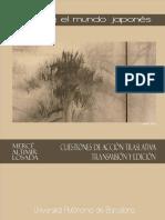 Altimir, Mercè (2010). Lacan y El Mundo Japonés - Cuestiones de Acción Traslativa, Transmisión y Edición. Ed. UAB
