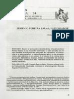Cristián Guerrero Yoacham - Eugenio Pereira Salas Historiador