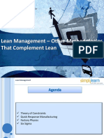 Lesson 08 Other Methodologies That Complement Lean