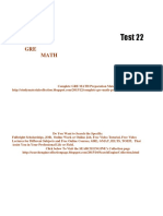 GRE Math Practice Test 22