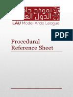 Procedural Reference Sheet