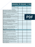 evaluation worksheets teachers