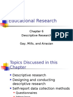 Chap 6 Descriptive Research