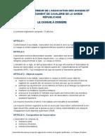 Règlement Intérieur CAC 2015