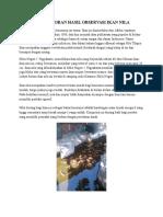 Text Laporan Hasil Observasi Ikan Nila