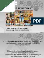 2.3 Tipos de Industrias