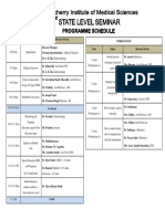 Programme schedule for conference