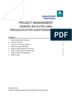 Project Management PQQ Part A