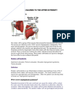 Common Injuries to the Upper Extremity