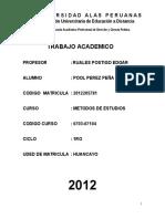 Metodo de Estudio - Pool Perez Peña