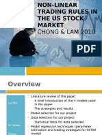 predictability of nonlinear trading rules in the US market