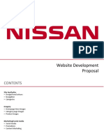 nissan web store development