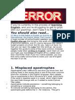 Mistakes Oxford