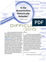 Is the Resurrection Historically Reliable