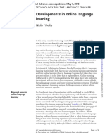 Developments in Online Language Learning