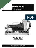 Maharaja GS-100 Garment Steamer - Instruction Manual - Page 01