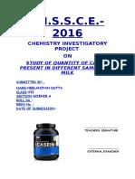 Study of quantity of caesin present in different samples of milk