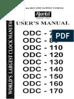 Ajanta Digital Clock - User Manual - Page 01