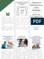FOLLETO 1 SUBPROGRAMAS DE SALUD OCUPACIONAL