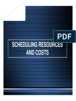 7 Scheduling Resources and Costs