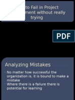 15 How to Fail in Project Management Without Really Trying