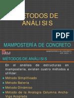Metodos de Analisis de la Mamposteria estructural