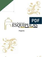 Programa Foro Regional Esquipulas 2010