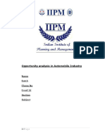 Industry Analysis Report of Automobile Industry Two
