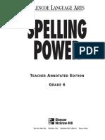 Spelling Power Workbook - Teacher Annotated Edition