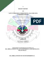 Competitive analysis API report