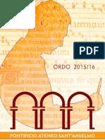 Ordo 2015-2016
