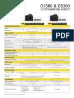 D5500 D5300 Comparison Sheet En