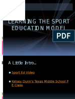 sport education model lecture 11 30 15
