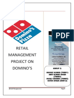 retail startegy of domino's