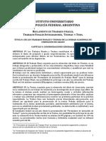 Reglamento de Trabajos Finales Tesinas y Tesis Del IUPFA