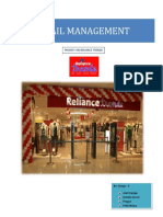 retail startegy of Reliance Trend