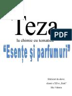 Teza La Chimie