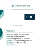 Training needs analysis and beyond