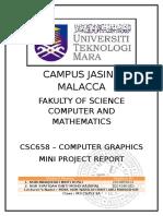 Format for Final VTU Computer Graphics Report-Mini Project