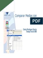 P.P. N° 05 Pruebas de Contraste de Media  con SPSS (Paramétricas)