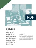 Manual de Operación y Mantenimiento - Sistema de Alcantarillado