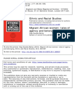 Bailey 2011 Migrant African Women- Tales of Agency Belonging