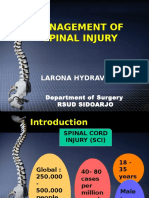 Management of Spinal Injury - RON 2