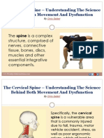 The Cervical Spine – Understanding the Science Behind Both Movement and Dysfunction