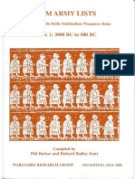 DBM Army Lists Book 1 3000 BC to 500 BC (2nd Edition) (2000)