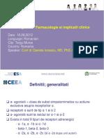 Daniela Ionescu Alfa 2 Agonistii Farmacologie Si Implicatii Clinice