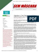 Mídia Sem Máscara - Argentina e o Caso Nisman_ as Verdadeiras Razões Do Pacto Com o Irã