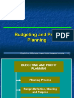 Budgeting and Profit Planning 101